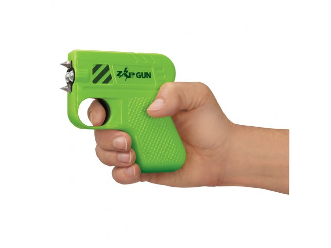 Green ZapGun hand
