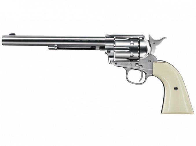 "Vzduchový revolver Colt SAA .45-7.5"" BB nikl"