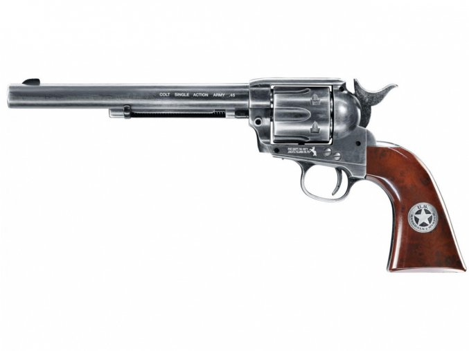 "Vzduchový revolver Colt SAA .45-7.5"" BB US Marshal Antique"