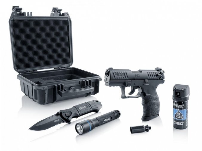 Plynová pistole Walther P22Q R2D Kit