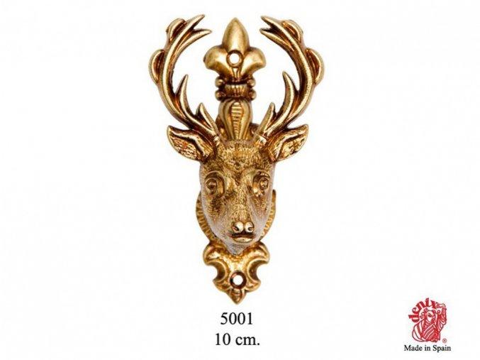Replika Držák nástěnný Jelení hlava zlatá