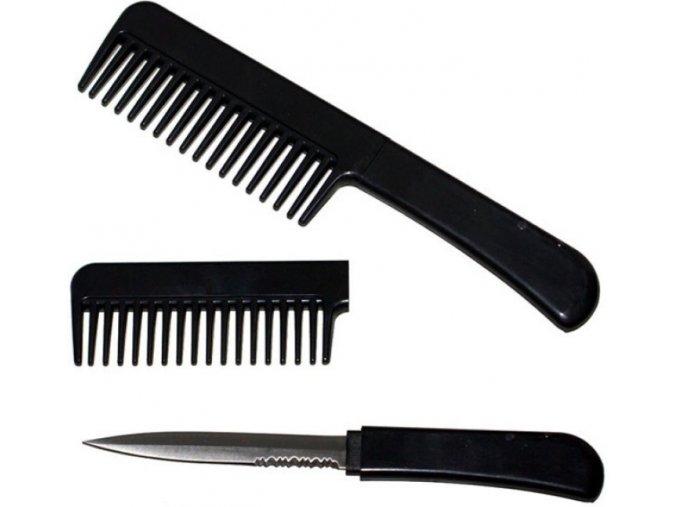 CIA hřeben se skrytým nožem