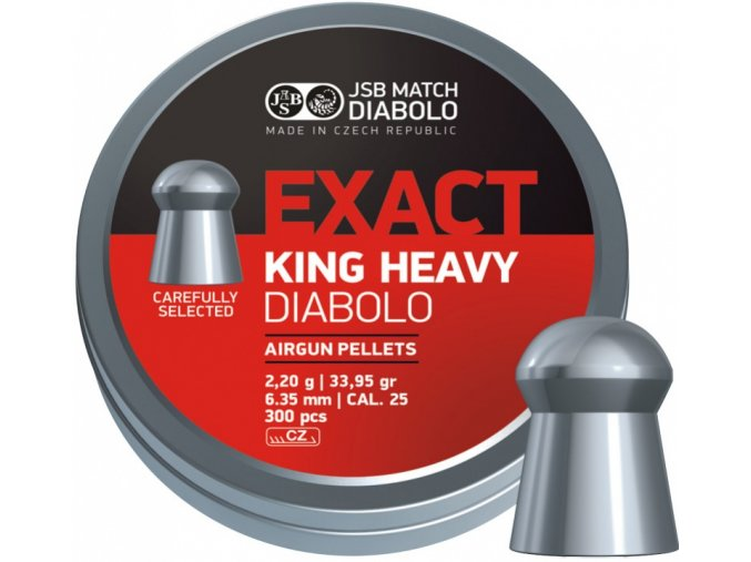Diabolo JSB Exact King Heavy 300ks cal.6,35mm