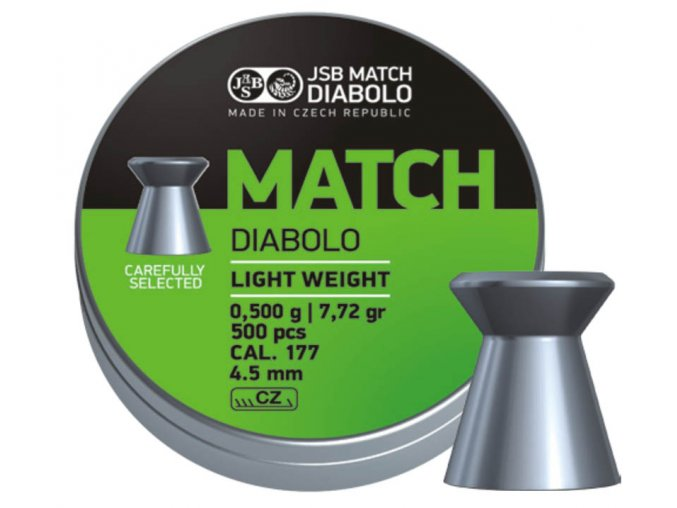 Diabolo JSB Match pistole 500ks cal.4,49mm