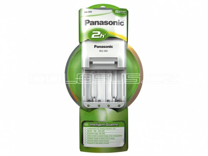 Nabíječka Panasonic BQ-392 + 4xAA P06 2100mAh Infinium