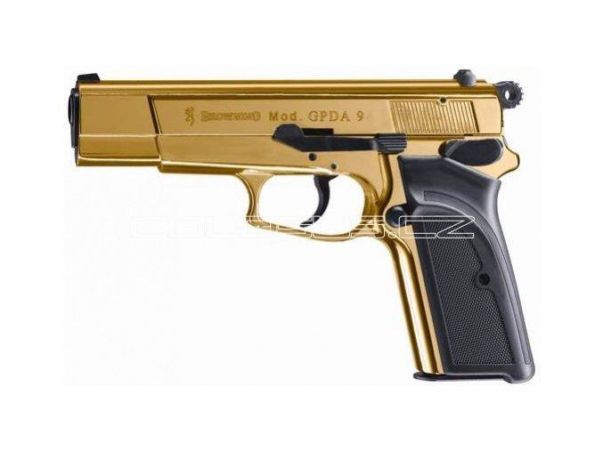 Plynová pistole Browning GPDA9 GOLD zlatá cal.9mm