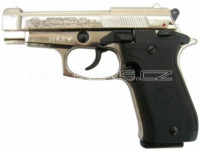 Plynová pistole Bruni 85 chrom cal.9mm
