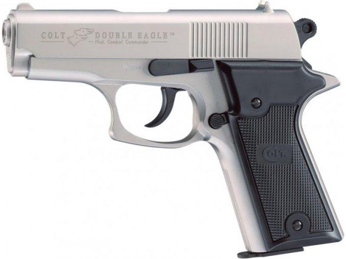 Plynová pistole Colt Double Eagle Combat Commander nikl cal.9mm