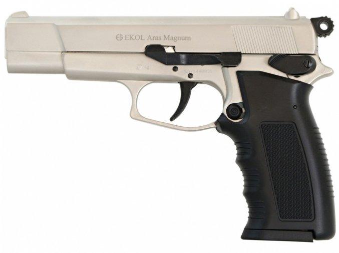Plynová pistole Ekol Aras Magnum satén nikl cal.9mm