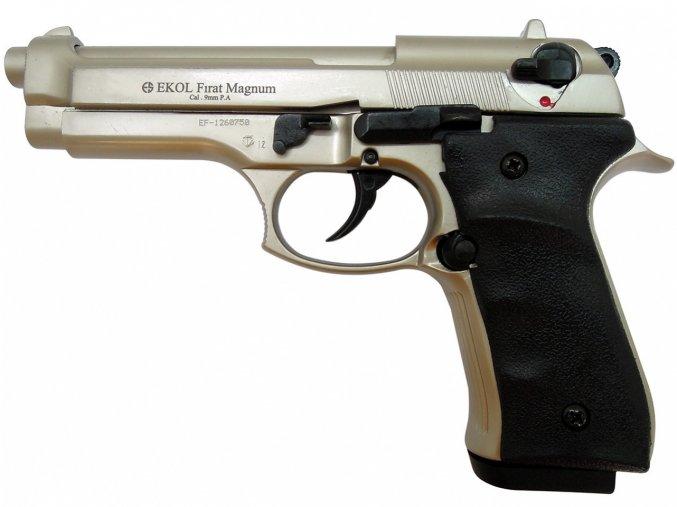 Plynová pistole Ekol Firat 92 satén nikl cal.9mm