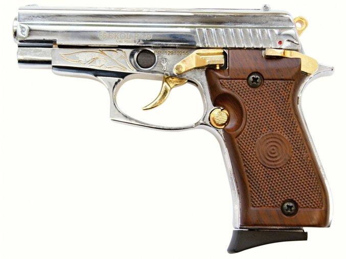 Plynová pistole Ekol P29 chrom gold cal.9mm