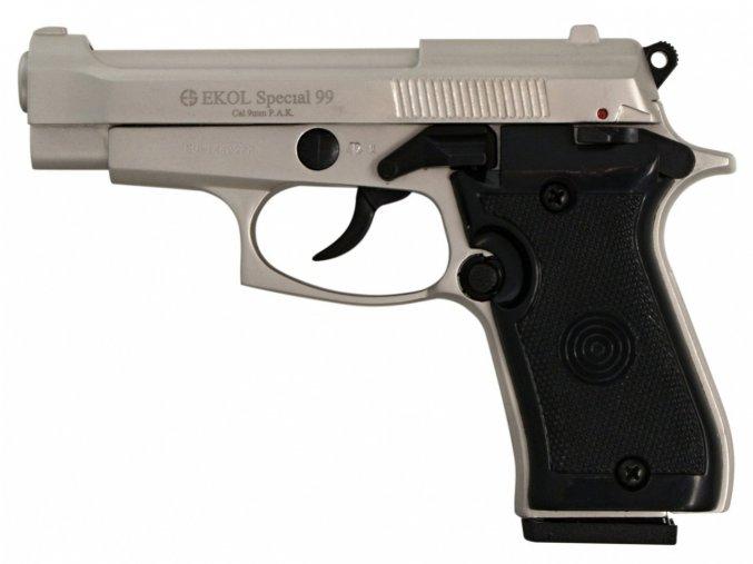 Plynová pistole Ekol Special 99 satén nikl cal.9mm