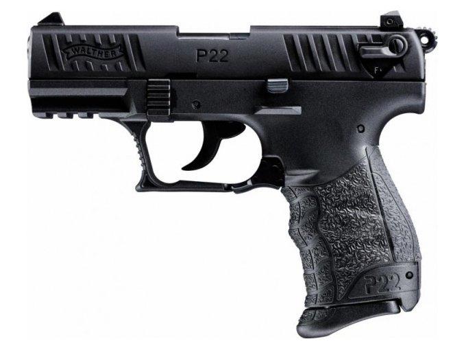 Plynová pistole Walther P22Q černá cal.9mm