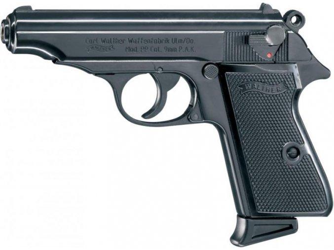 Plynová pistole Walther PP černá cal.9mm