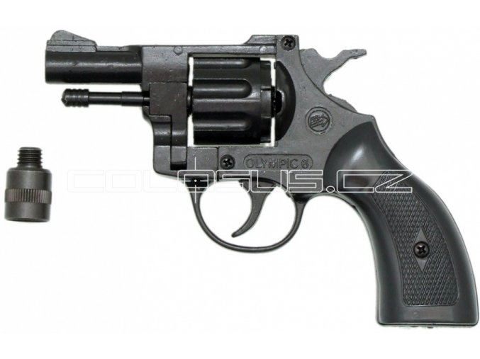 Plynový revolver Bruni Olympic 6 plast cal.6mm