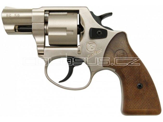 Plynový revolver Rohm RG59 nikl cal.9mm