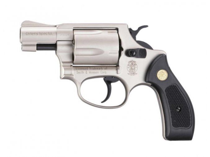 Plynový revolver Smith&Wesson Chiefs Special nikl plast cal.9mm