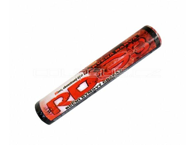 Pyrotechnika Červená dýmovnice (80 sekund) 1ks