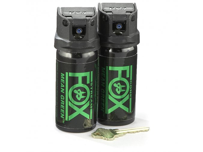 Pepřový sprej Mean Green 43 ml clona
