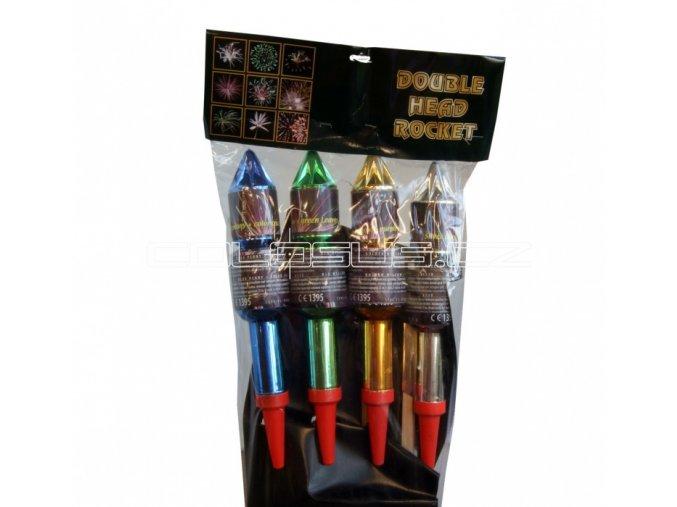 Pyrotechnika Rakety Double Head Rocket set 4ks