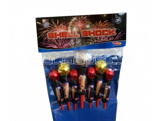 Pyrotechnika Rakety Shell Shock set 7ks