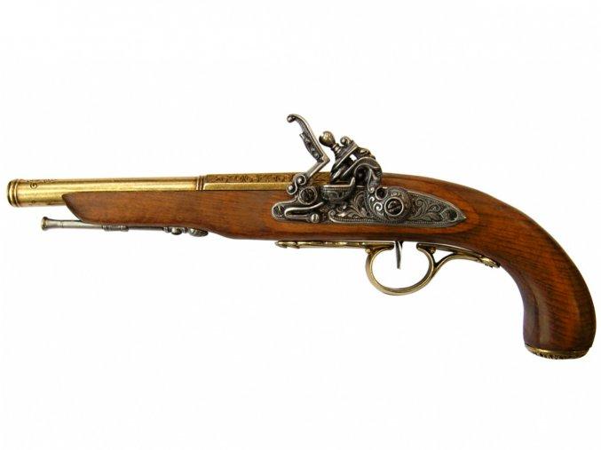 Replika Mušketová Pistole 18.stol., mosaz