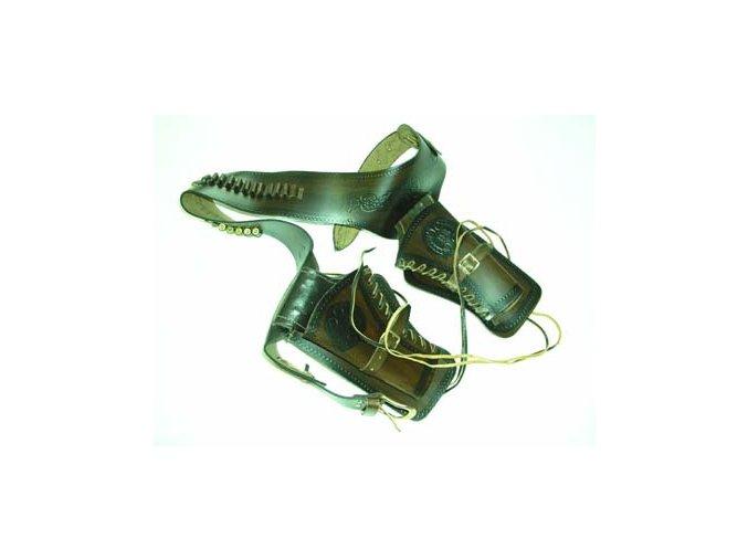 "Replika Opasek s pouzdrem na 2 pistole ""holstr"""