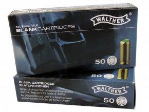 Startovací náboje 9mm pistole 50ks Walther