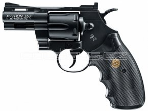 """Vzduchový revolver Colt Python 2,5"""" černý"""
