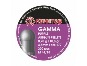 Diabolo Kvintor Gamma Purple cal.4,5mm 300ks