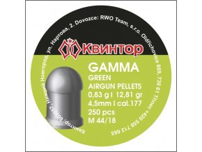 Diabolo Kvintor Gamma Green cal.4,5mm 250ks
