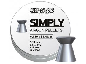 Diabolo JSB Simply 0,520g 500ks cal.4,5mm