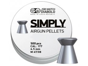 Diabolo JSB Simply 0,535g 500ks cal.4,5mm
