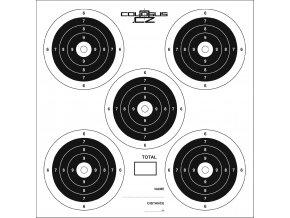 Terče COLOSUS 14x14cm 5-target bal.100ks