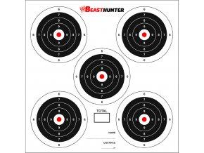 Terče BeastHunter 14x14cm 5-target bal.100ks