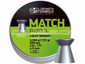 Diabolo JSB Match pistole 500ks cal.4,52mm