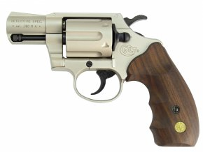 Plynový revolver Colt Detective Special nikl dřevo cal.9mm