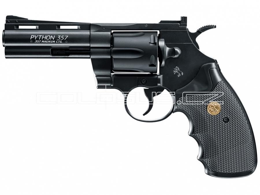 """Vzduchový revolver Colt Python 4"""" černý"""