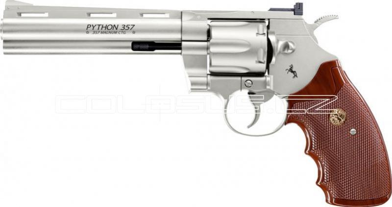 "Vzduchový revolver Colt Python 6"" nikl"