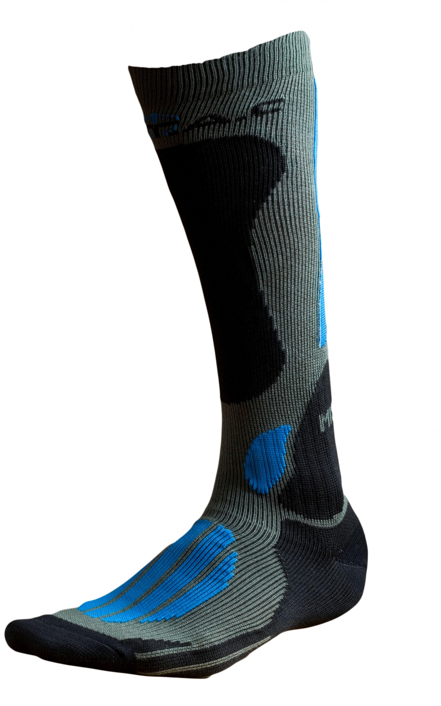 Ponožky BATAC Mission MI02 vel. 36-38 - olive/blue