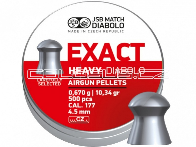 Diabolo JSB Exact Heavy 500ks cal.4,51mm