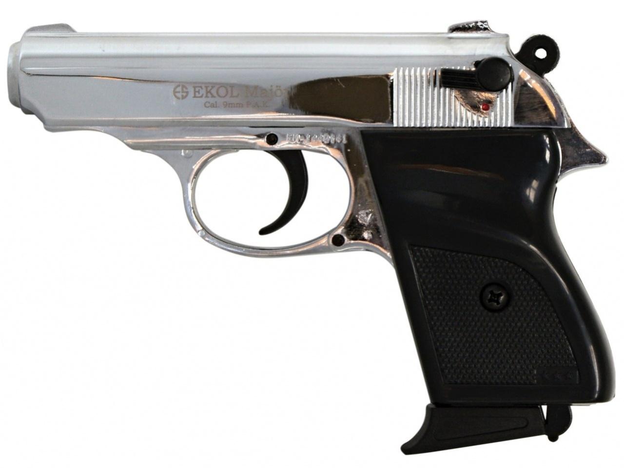 Plynová pistole Ekol Major chrom cal.9mm