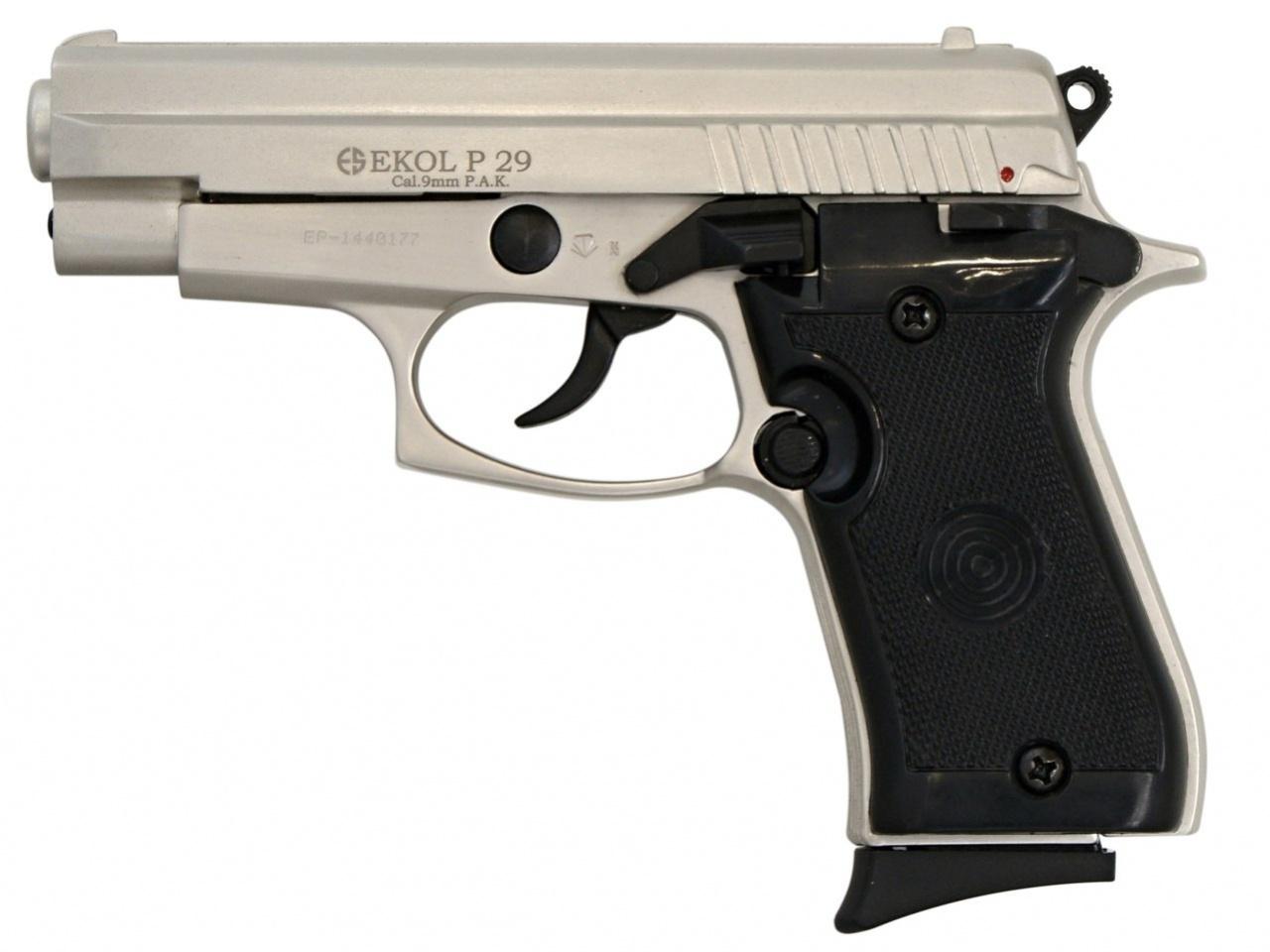 Plynová pistole Ekol P29 satén nikl cal.9mm