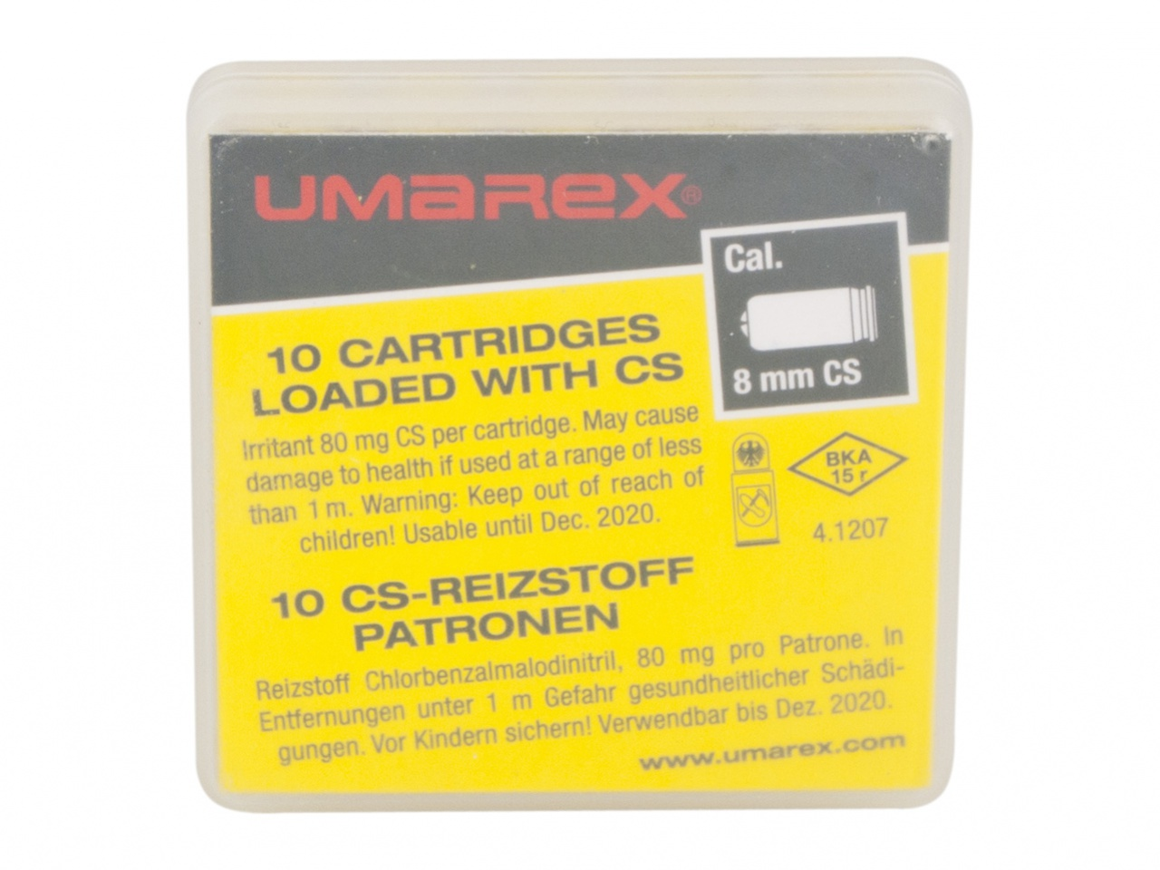 Plynové náboje CS 8mm pistole Umarex 10ks