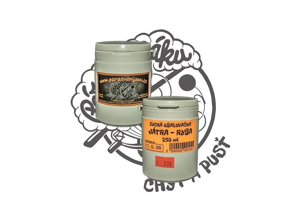 Suchá obalovačka Játra Ryba - 250 ml