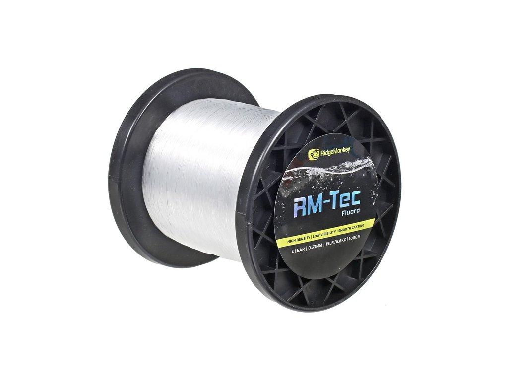 RidgeMonkey Vlasec RM-Tec Fluoro 0,37mm 20lb 1000m Čirý