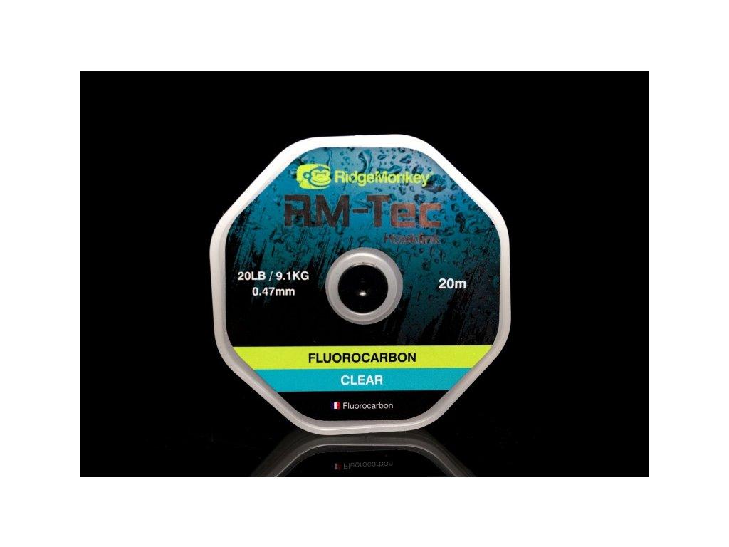 RidgeMonkey Tec Fluorocarbon,  čirá - 0,41mm 15lb