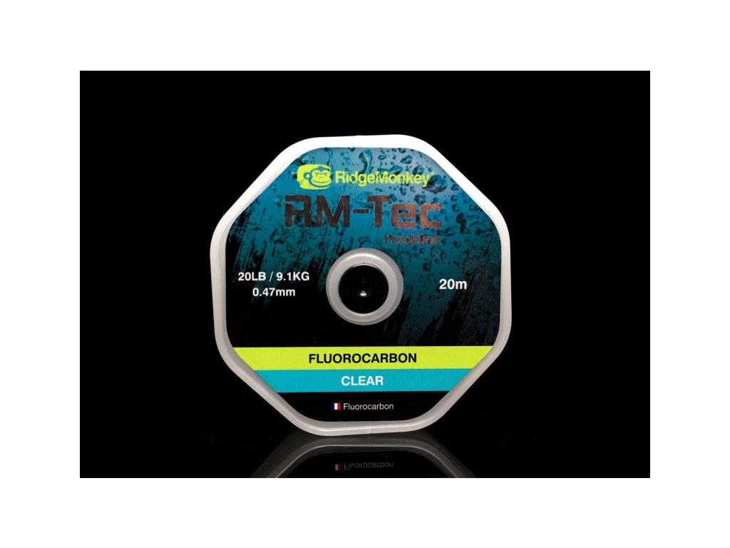 RidgeMonkey Vlasec RM-Tec Fluorocarbon 0,41mm 15lb 20m Čirý