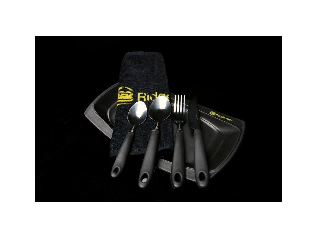 RidgeMonkey Jídelní set SQ DLX dlouhý talíř