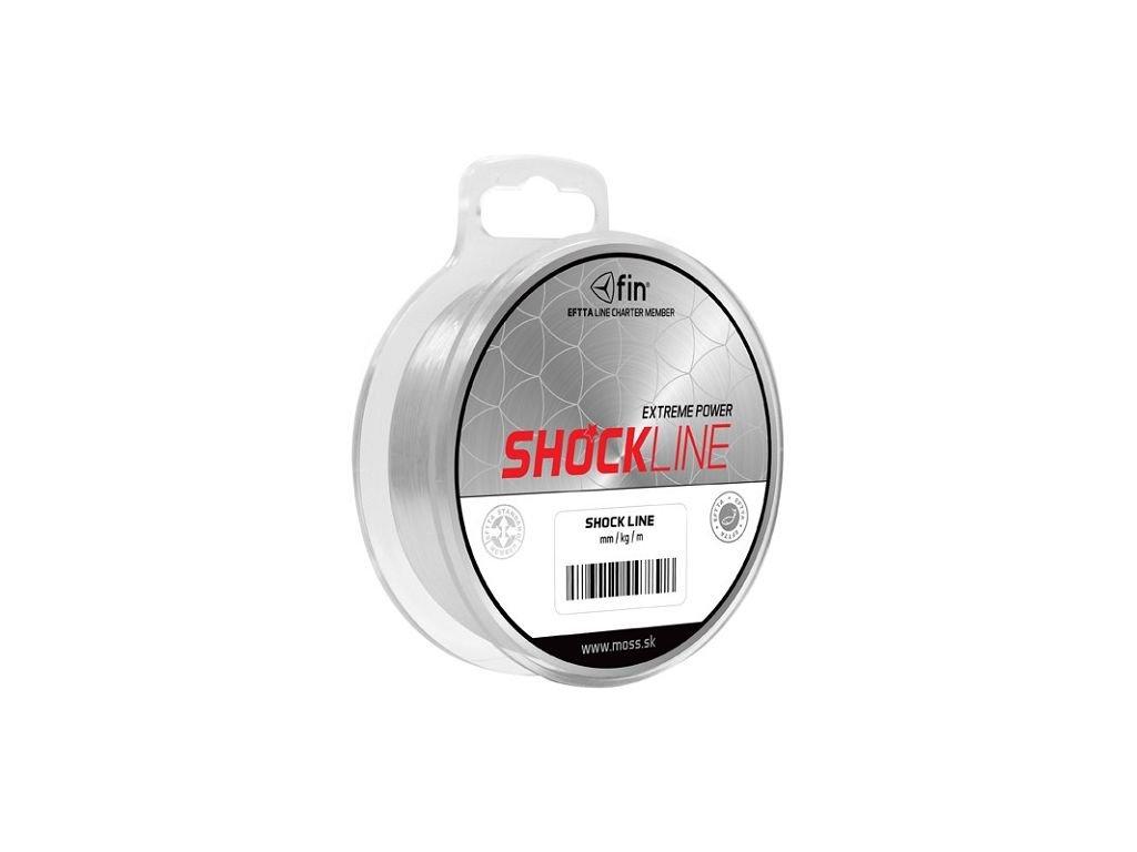 Delphin FIN SHOCK Line - šokový vlasec návazcový - 80m 0,60mm 45,1lbs